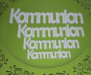 Kommunionschriftzug
